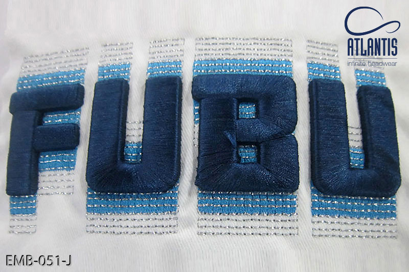 3D Emb + Metal Thread embroidery - EMB-051-J